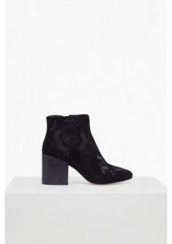 Dilya Embroidered Suede Ankle Boots