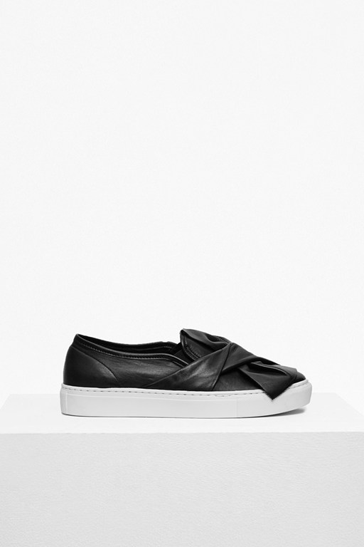 Complete the Look Simmie Bow Leather Trainers