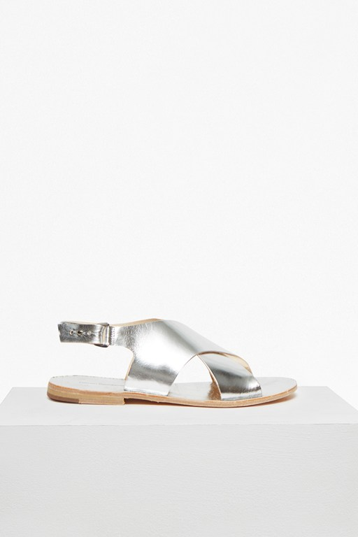 Complete the Look Mia Crossover Leather Slingback Sandals