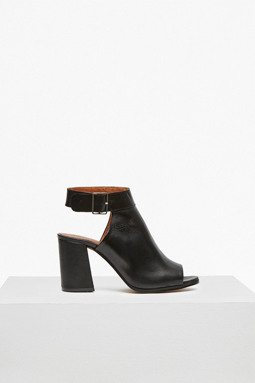 Complete the Look Cut Out Heeled Leather Booties