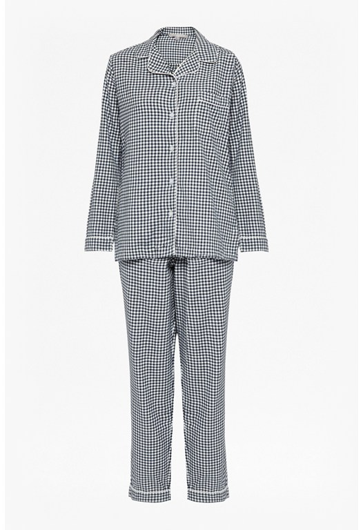 Flannel Checked Pyjama Set