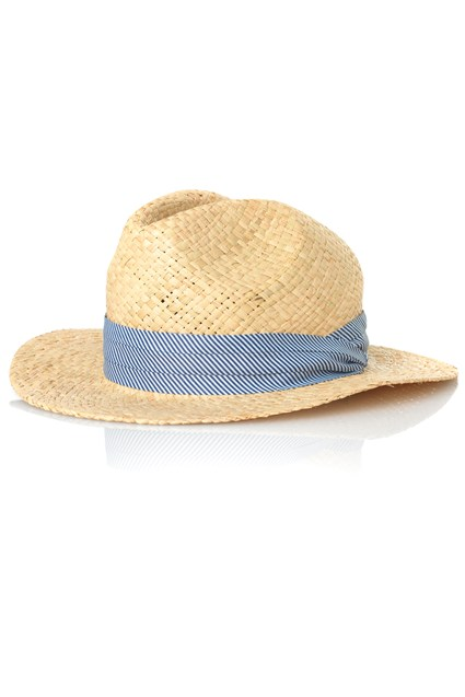 Ticking Stripe Trilby