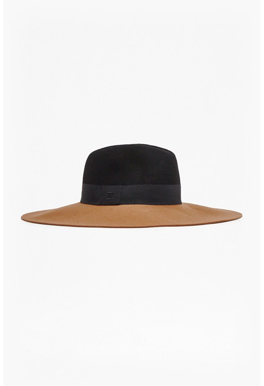 Anita Colour Block Felt Fedora