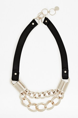 Leather & Chain Necklace