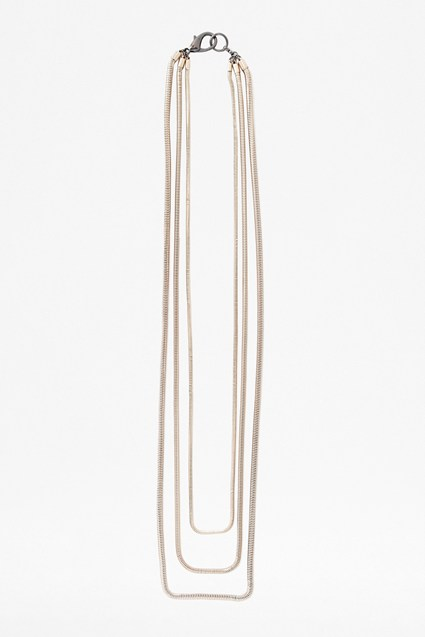 Triple Row Layered Necklace