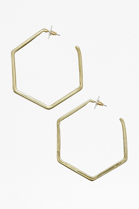 Honeycomb Hoop Earrings