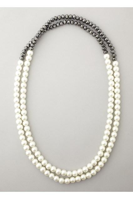 Pearl and Faceted Necklace