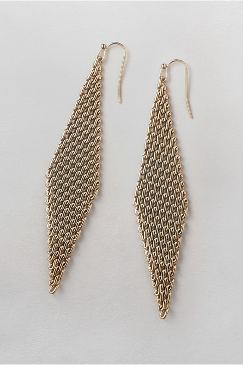 Mesh Chain Drop Earrings