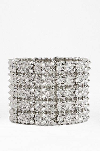 Spike And Stone Stretch Bracelet
