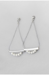 Pearl & Tube Ditsy Earrings