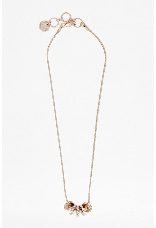 Pave Edged Discs Pendant