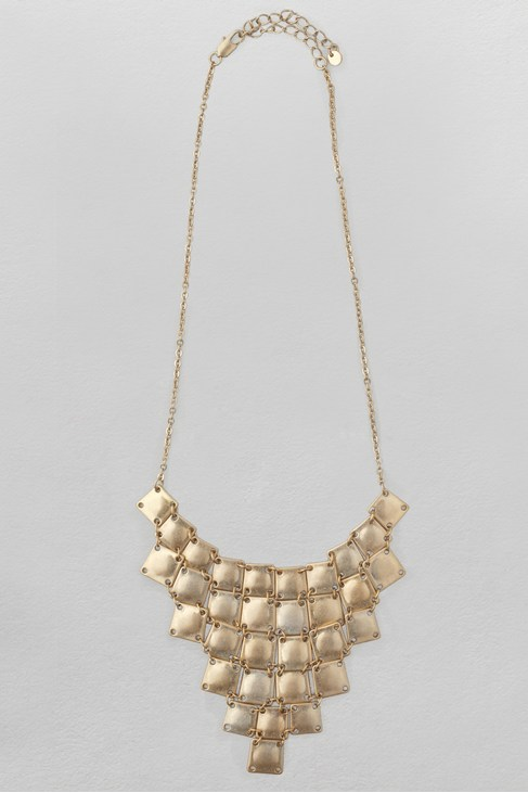 Square Cascade Collar Necklace