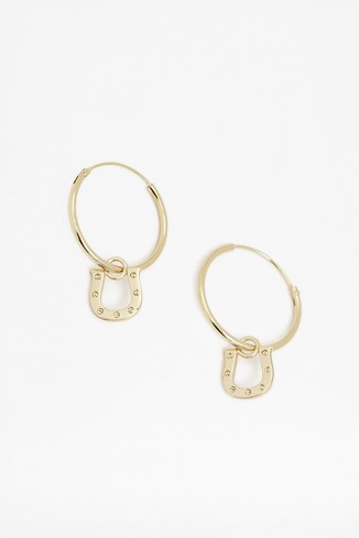 Fine Horseshoe Stud Earrings