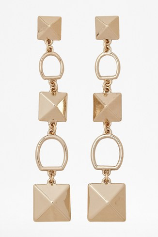 Oversized Pyramid Stud Earrings
