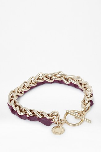 Leather And Chain Chunky Friendship Bracelet