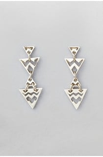 Graphic Stud Drop Earrings