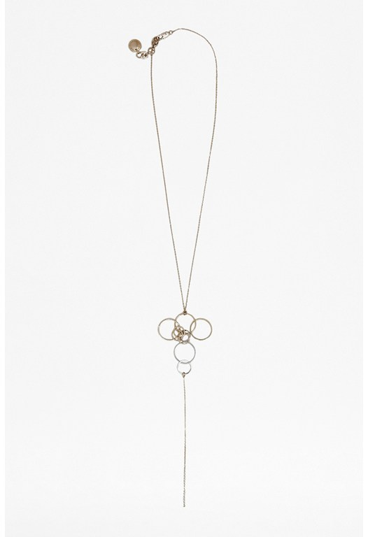 Circle Charm Drop Necklace