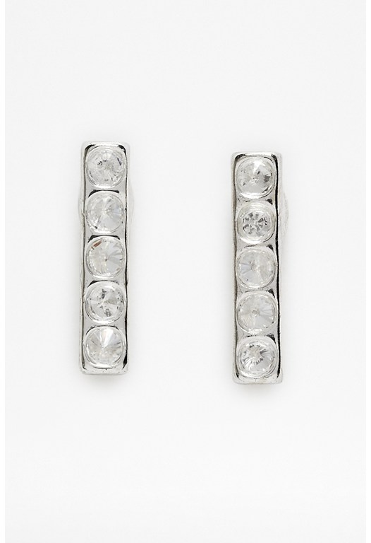 Spike Stone Stud Earrings