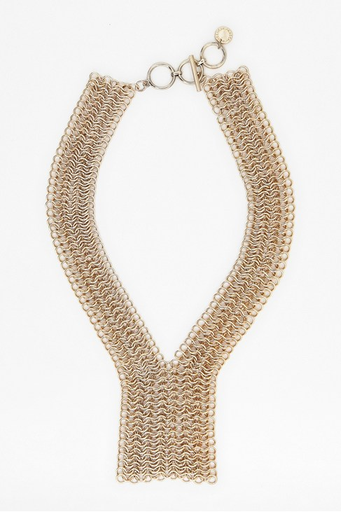Gold Chainmail Drop Necklace