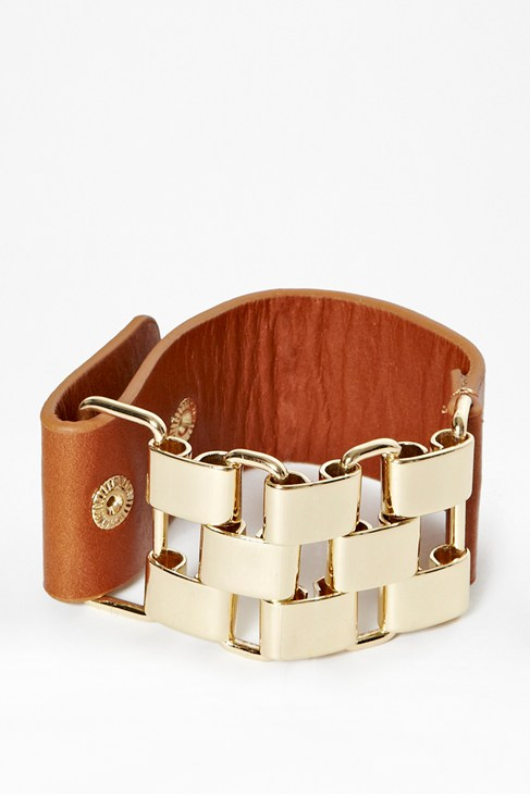 Multi Link and Leather Bracelet