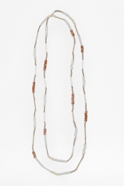 Pearl Bead And Tube Necklace
