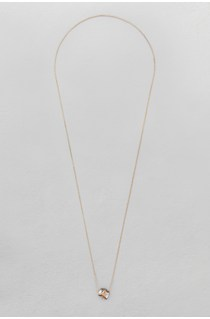 Glass Cube Long Necklace