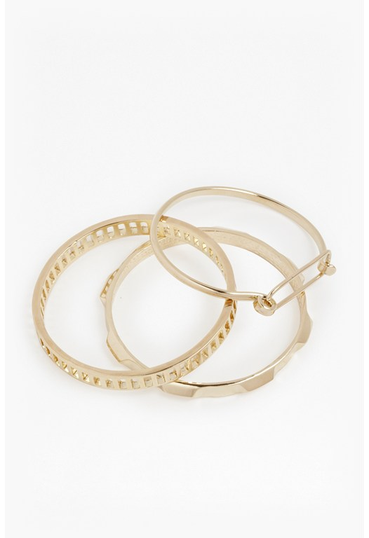 Mixed Cutout Metal Bangles
