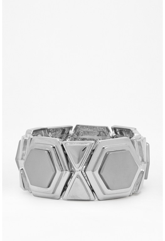 Stacked Hexagon Bracelet