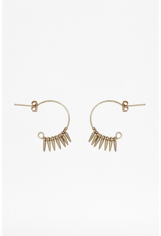 Mini Spike Hoop Earrings