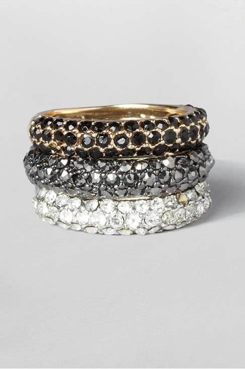 Pave Ring Trio
