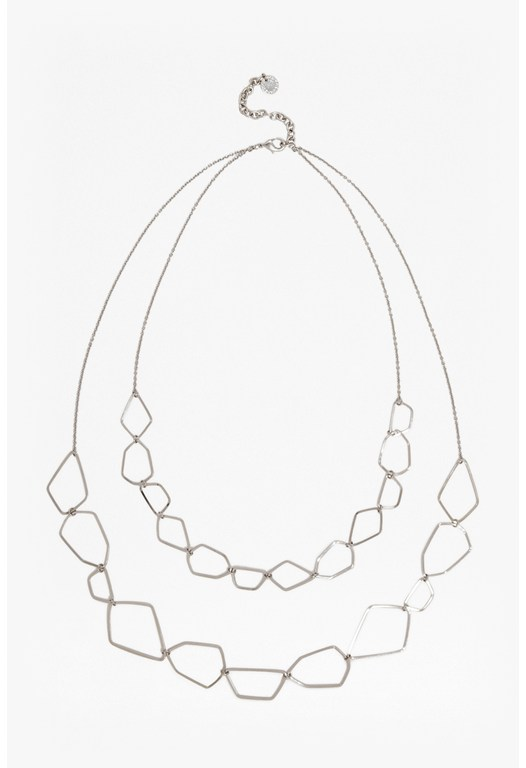 Polygon Link Strand Necklace