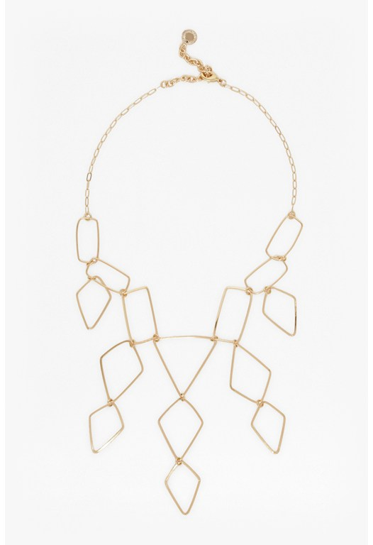 Linear Link Collar Necklace