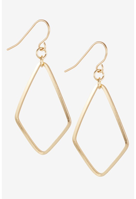Diamond Outline Drop Earrings