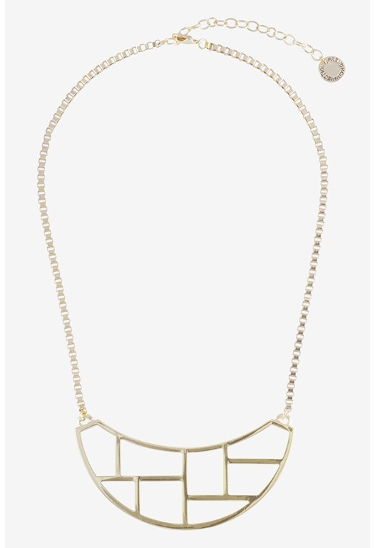 Cut-Out Metal Necklace