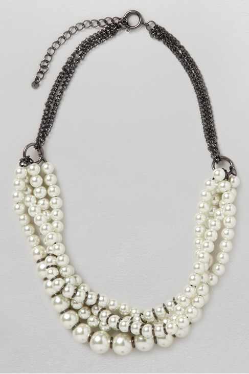 Glass Pearl Twist Collar