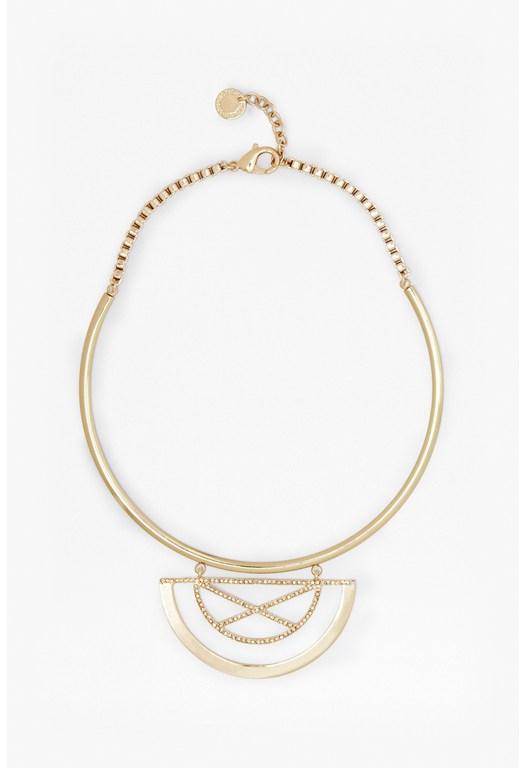 Half Orbit Collar Necklace