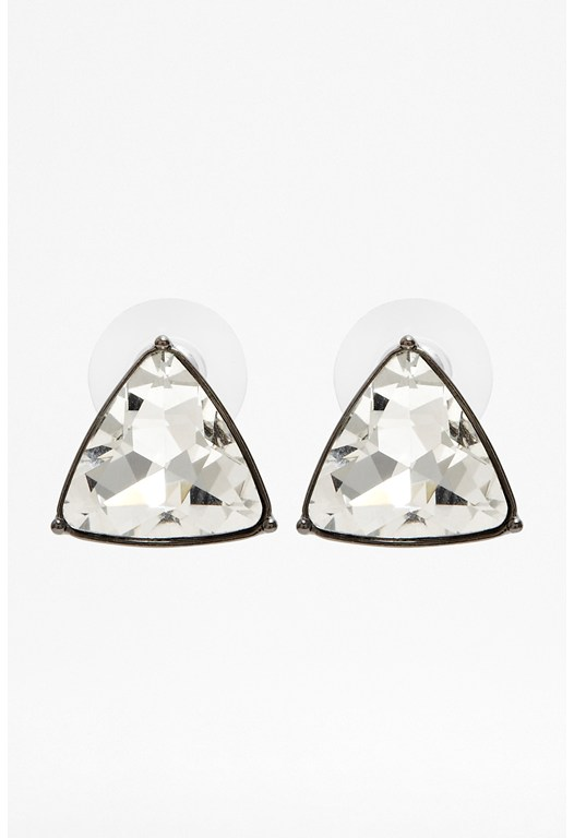 Triangle Stone Stud Earrings