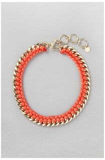 Wrapped Curb Chain Bracelet