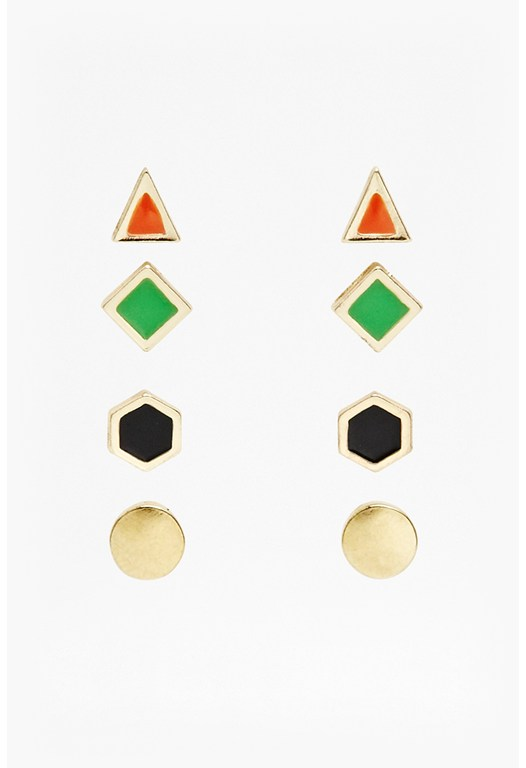 Mini Geometric Stud Earring Set