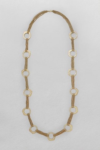 Beaten Organic Chain Necklace