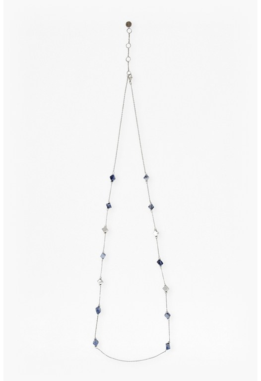 Long Sodalite Stone Necklace