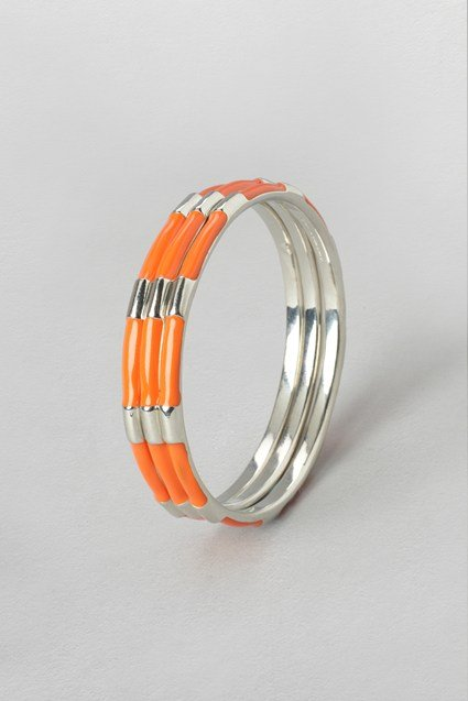 Enamel Stripe Bangle