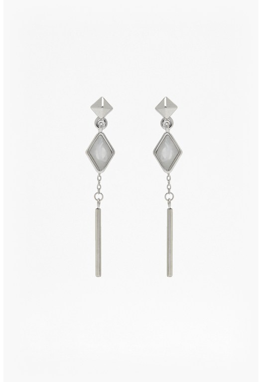 Double Drop Stud Earrings