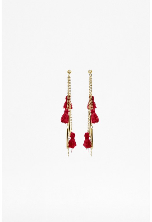 Tassel Drop Stud Earrings
