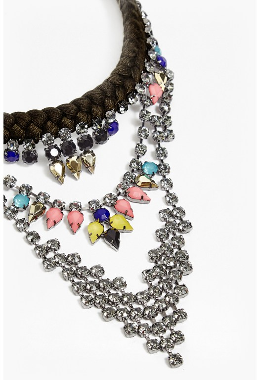 Three Tier Embellished Necklace