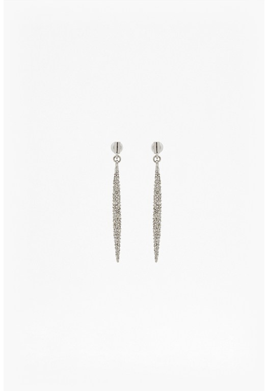 Pave Spike Linear Earrings