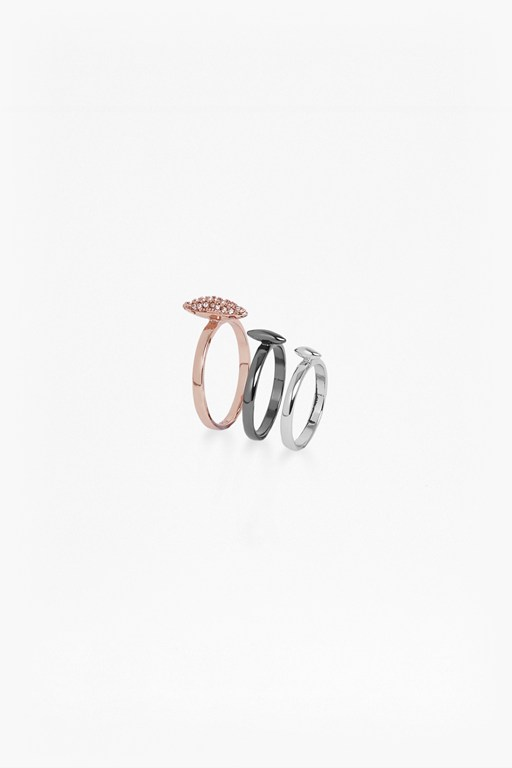 Spike 3 Midi Ring Set