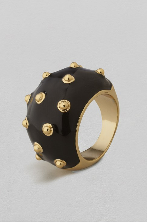 Dome Stud Enamel Ring