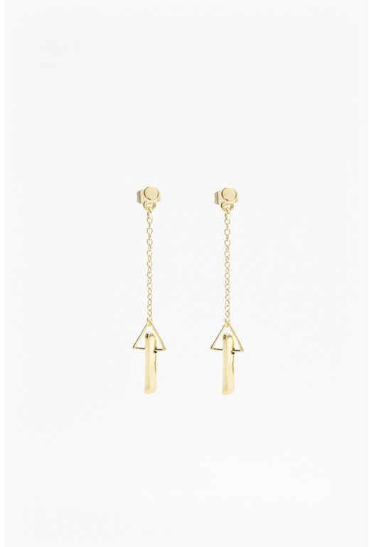 Linear Dagger Drop Earrings