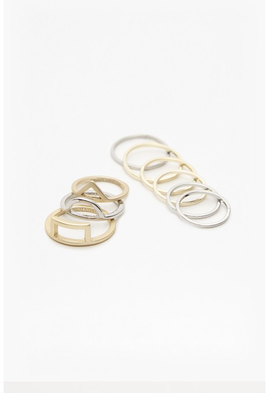 Cut Out Midi Ring Set